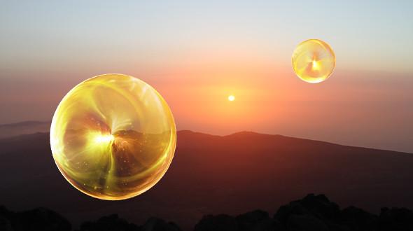 Yellow-Orb-Desert