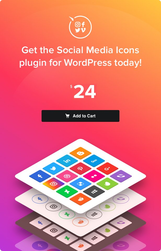 WordPress Social Media Icons – Social Icons Plugin - 4