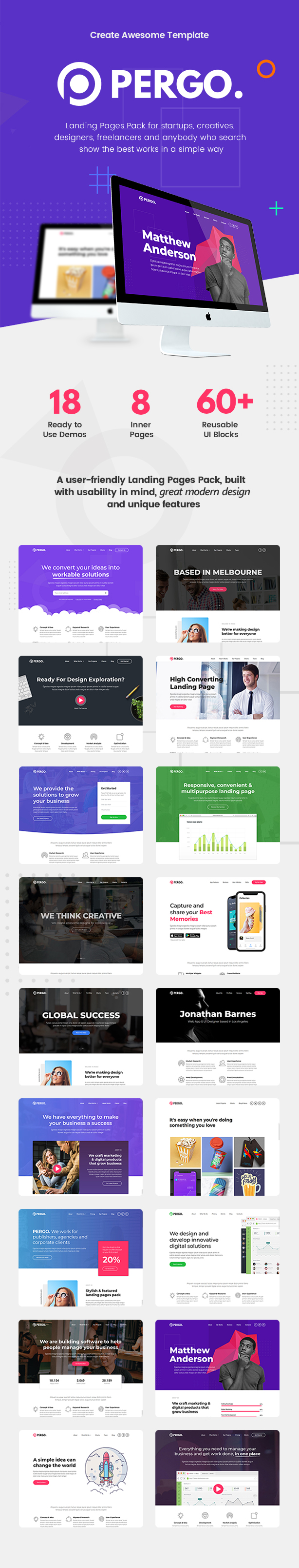 Pergo - Multipurpose Landing Page WordPress Theme - 3