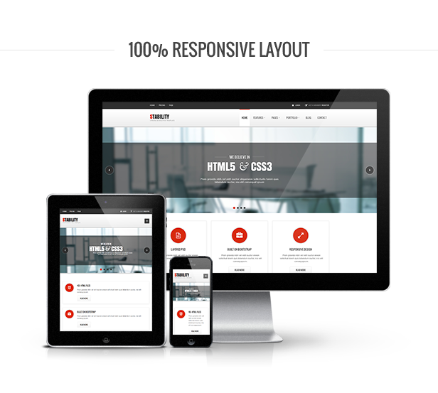 Stability HTML Template Responsive
