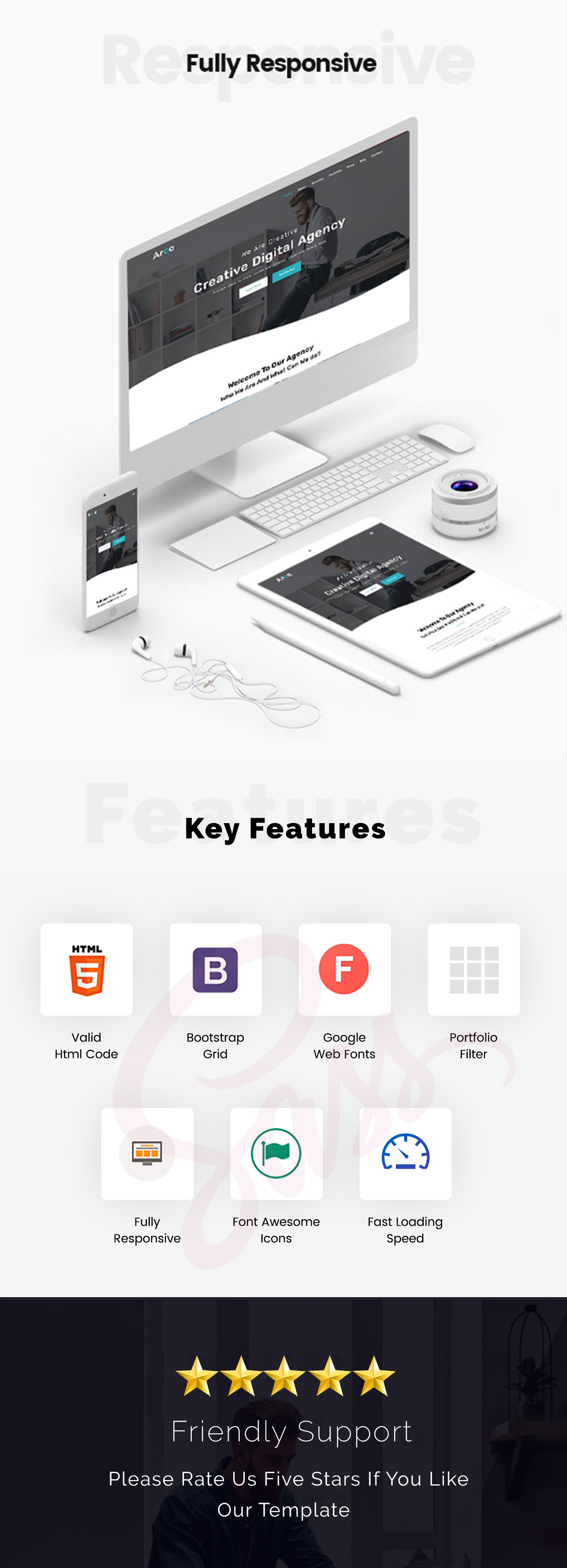 Arco - One Page Parallax Joomla Template - 1