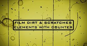 Film-Dirt-Scratches-Elements-with-Counter