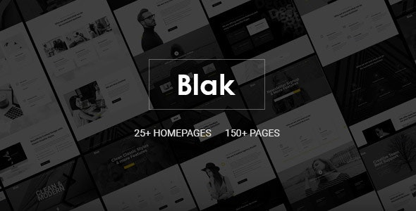 Blak - Responsive MultiPurpose HTML5 Website Template - Corporate Site Templates
