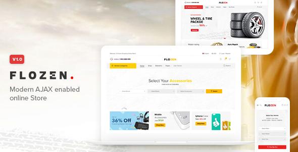 Flozen - WooCommerce AJAX WordPress Theme - RTL support