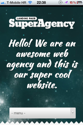 Super Agency WP on iPhone