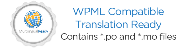 Officially WPML Compatible. Translation Ready