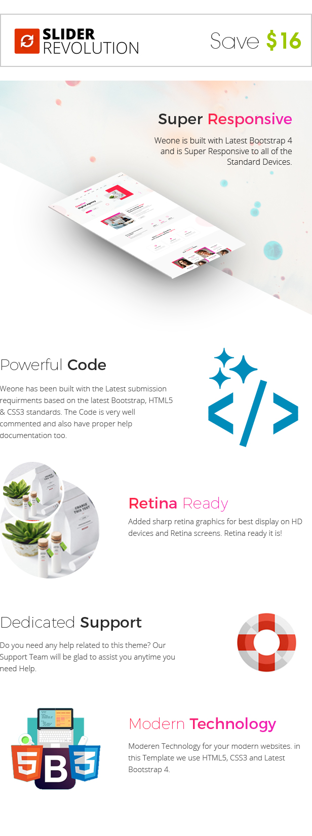 Weone - One Page Parallax HTML5 - 3