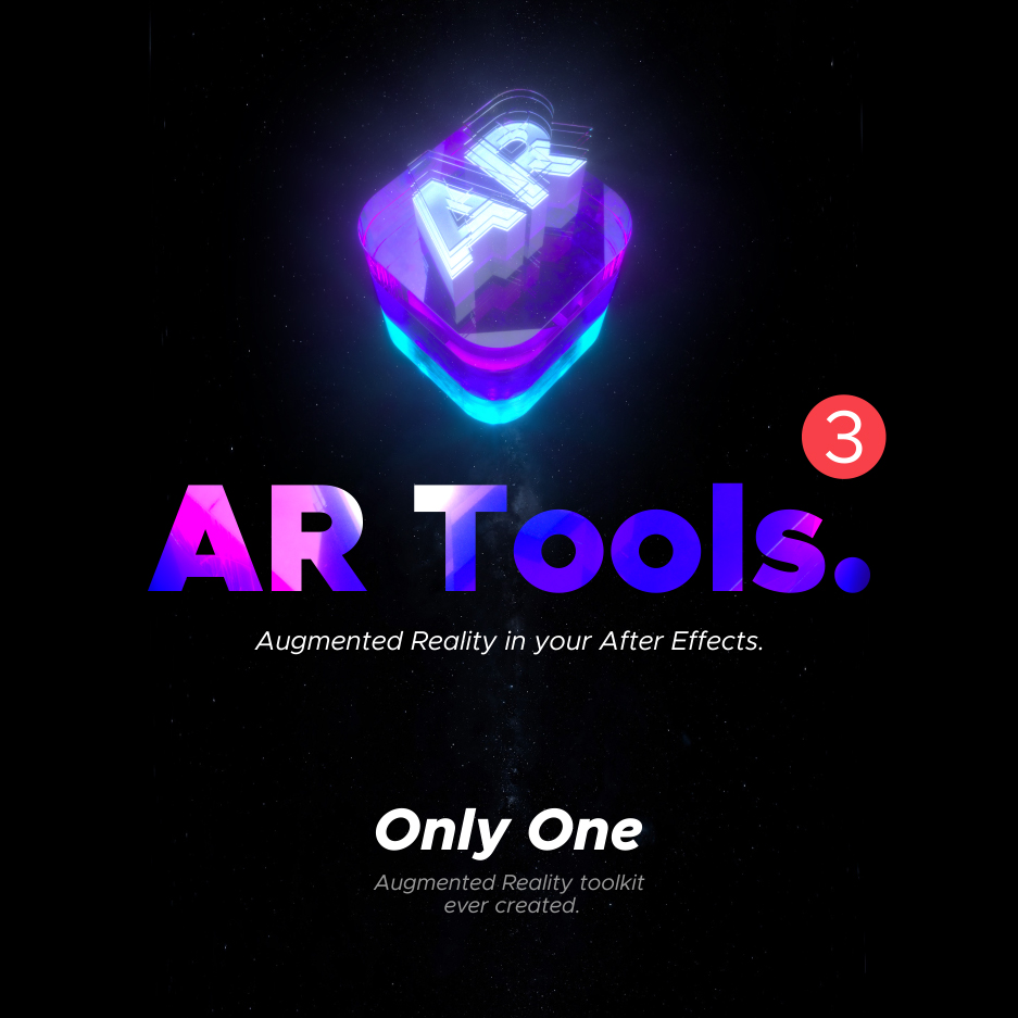 AE脚本-500多个人工智能高科技科幻HUD元素RGB光束烟雾描边效果AR动画工具包 AR Tools for Win/Mac破解版 V3插图2