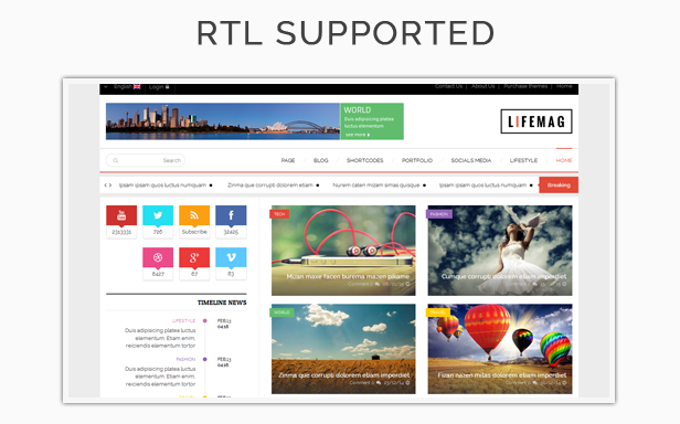 SW Lifemag - RTL Language Ready