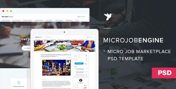 MicrojobEngine PSD Template