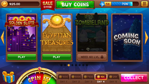 Lobby with Bonus Wheel and GUI for Slots Games - 1