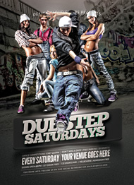 Design Cloud: Hip Hop Dubstep Flyer Template