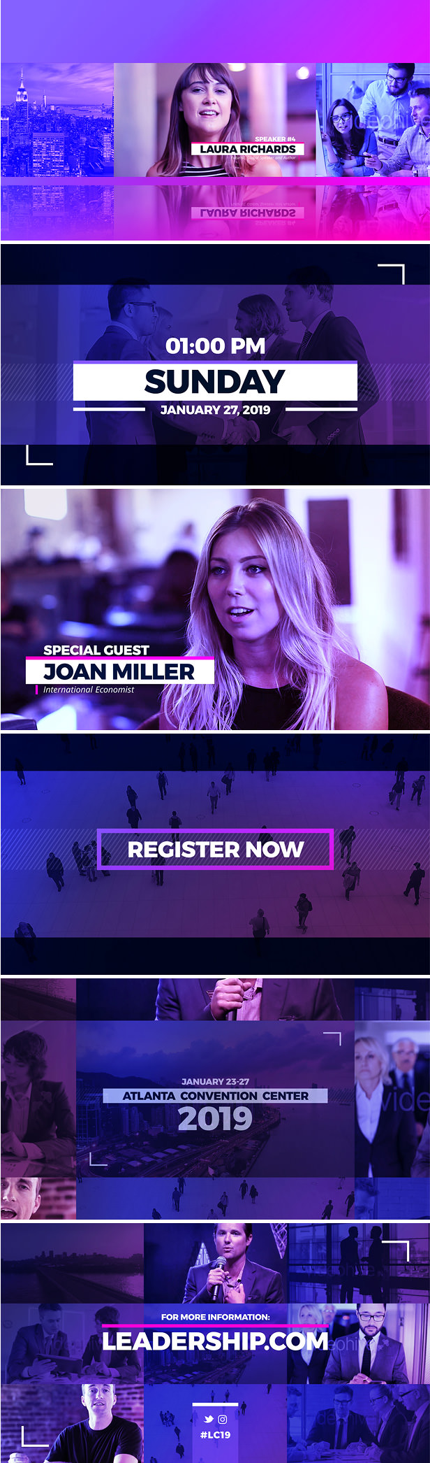 Event Promo After Effects Template for different types of meetings and events