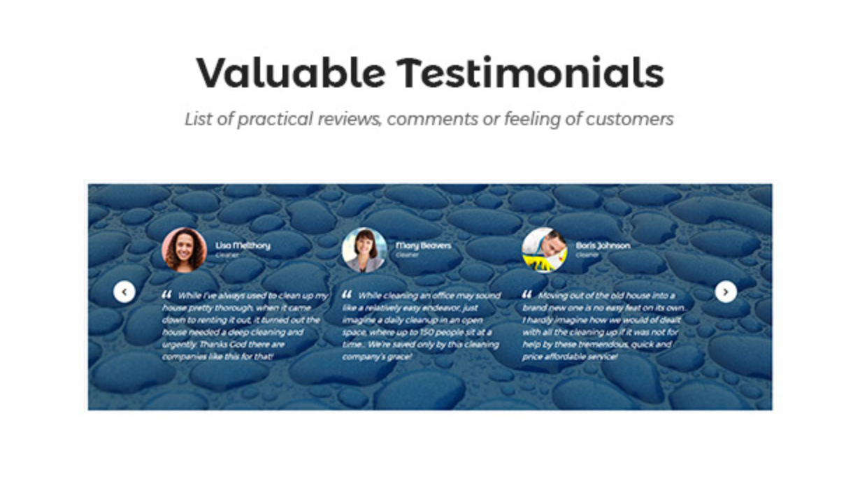 Cleanmark Valuable Testimonials- Best Cleaning Service, Cleaning Company, Cleaning Business WordPress Theme