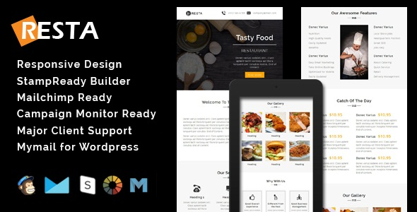 Ray - Multipurpose Responsive Email Template With Stamp Ready Builder Access - 4