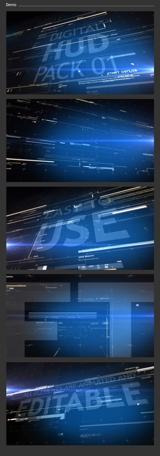 HUD Pack 01 After Effects Template Free