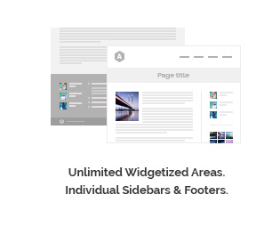 Unlimited Widgetized Areas. Individual sidebars and Footers.