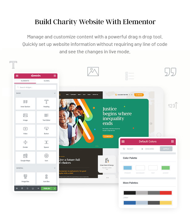 Gainlove Nonprofit WordPress Theme - Nonprofit Elementor Theme Builder