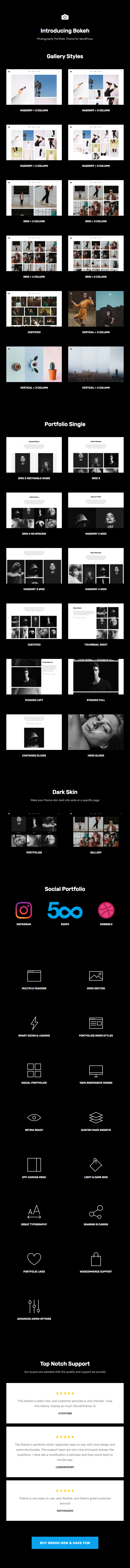 Bokeh - Photography Portfolio Theme for WordPress