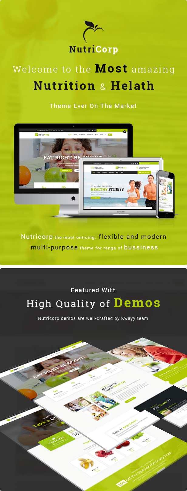 Nutricorp WordPress Theme