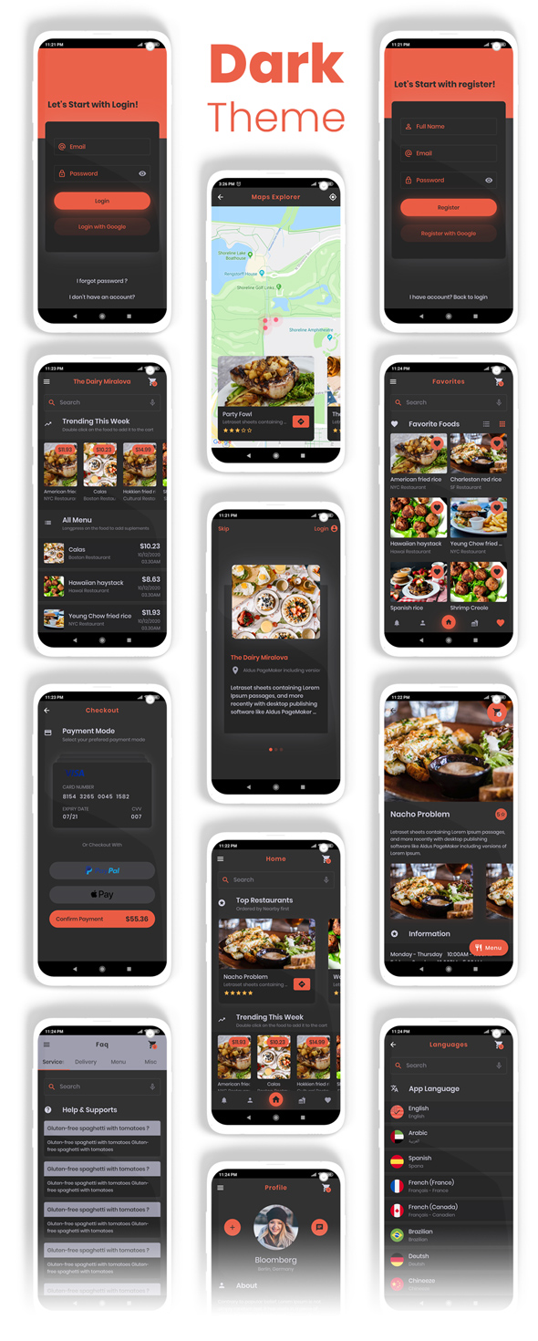 Food Delivery Flutter + PHP Laravel Admin Panel - 16