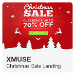 XMuse - Christmas and New Year Sale Promo Adobe Muse Template