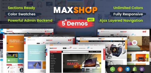 Maxshop - Responsive & Multi-Purpose eCommerce HTML Template - 2