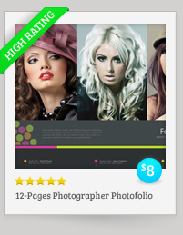 12 Pages Photographer Photofolio Template