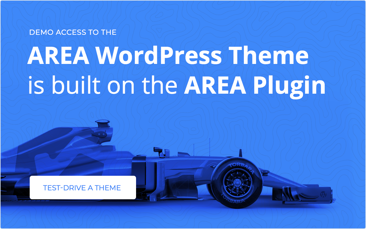One click test-drive AREA WordPress plugin