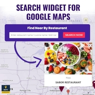 Search Widget For Google Maps