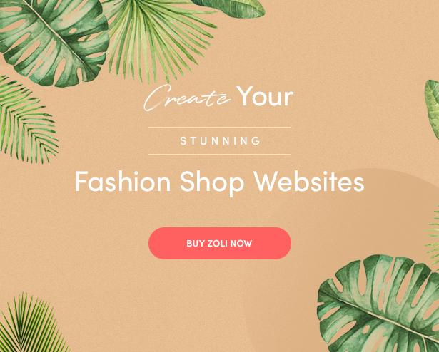 Zoli - Minimal & Modern Fashion WooCommerce WordPress Theme