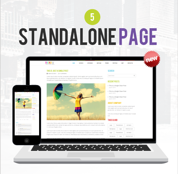 RockoX - One Page Parallax  - 9
