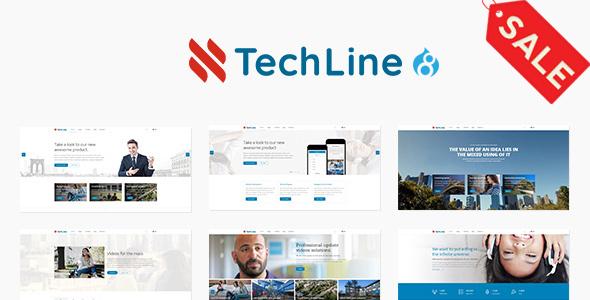 TechLine - Web services, businesses and startups Drupal 8 Theme