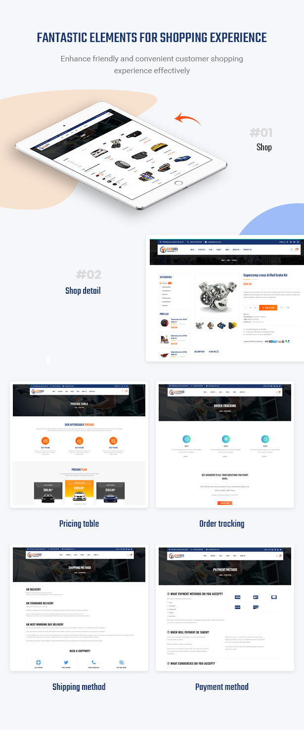 Optimize Shopping Process In Website - Carsao - Car Service & Auto Mechanic WordPress Theme