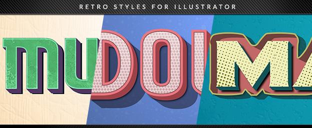 Retro Styles for Illustrator