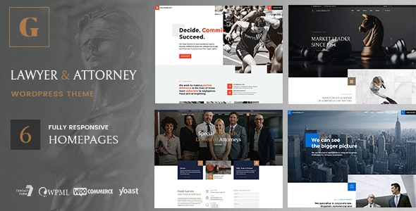 Goldenblatt - WordPress Theme for Lawyer & Attorney - Business Corporate