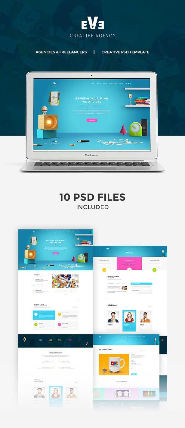 Eve   Creative PSD Theme - 2