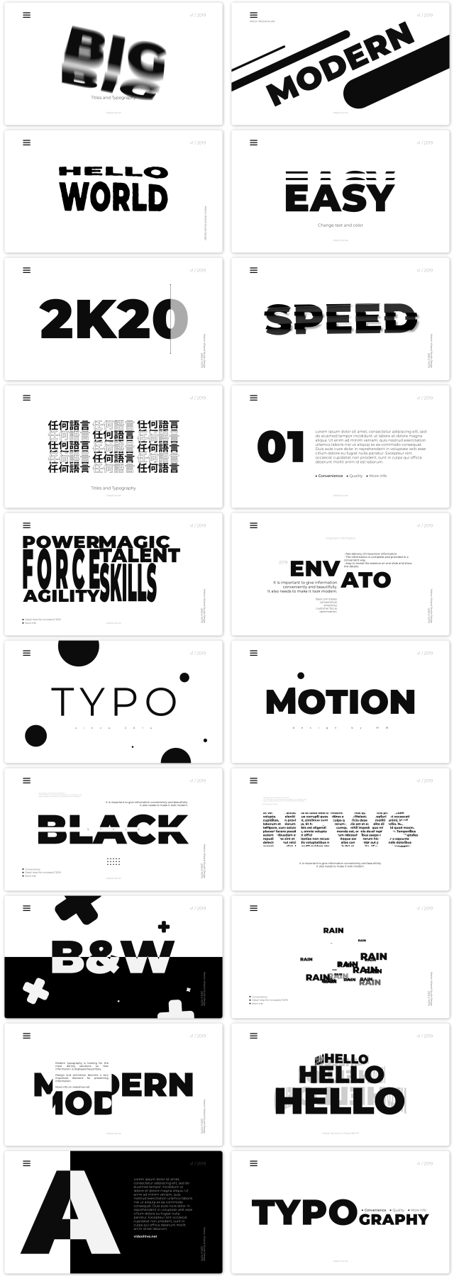 Big Black Titles And Typography - 1