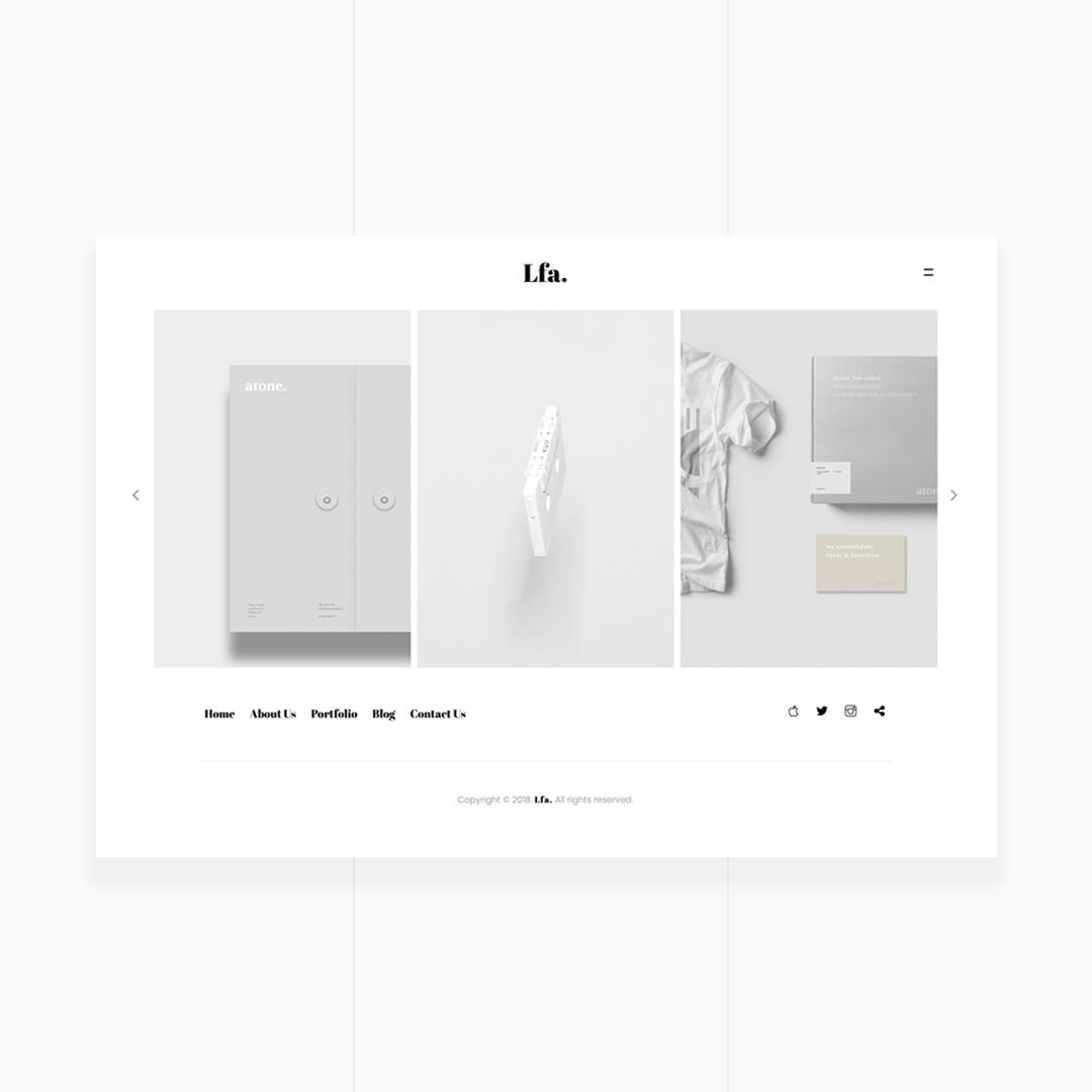 Lfa. - Creative & Minimal HTML5 Template