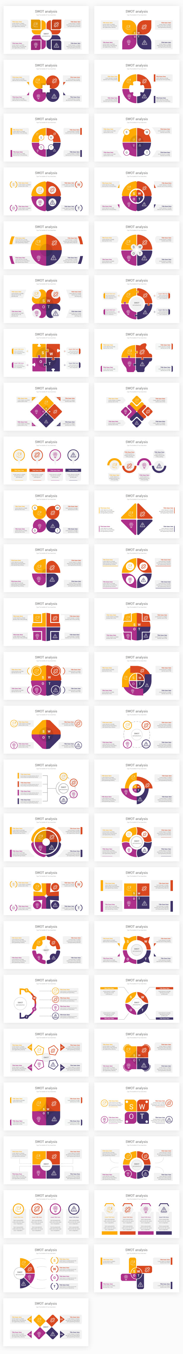 SWOT analysis PowerPoint & Illustrator Template