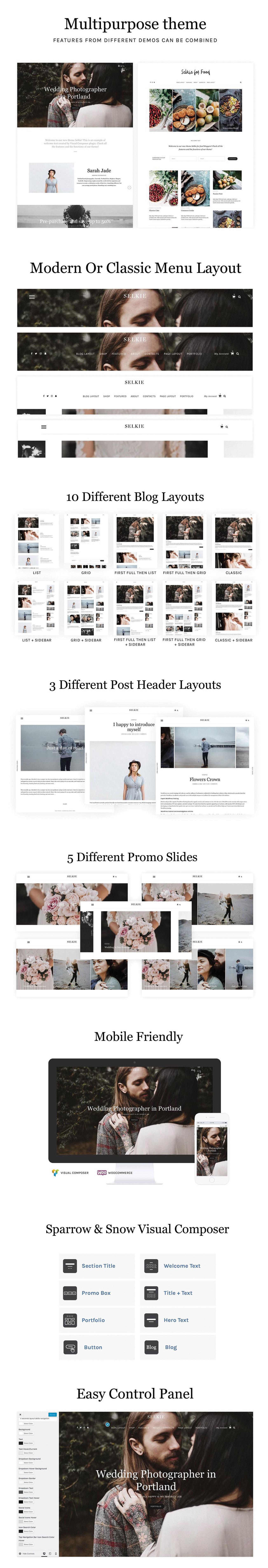 Selkie - Multipurpose Portfolio Blog and Shop - 1
