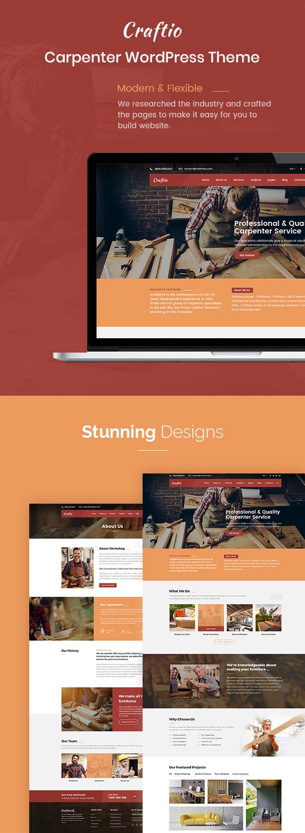 Craftio - Carpenter WordPress Theme - 2