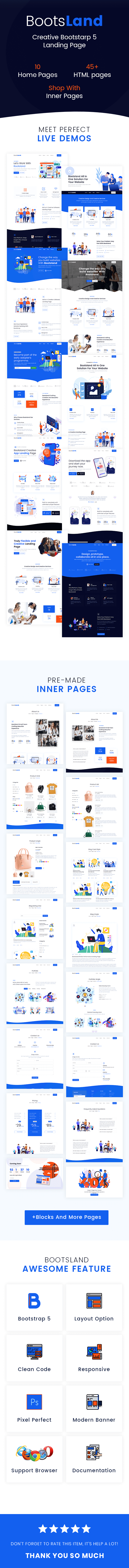 Bootsland - Creative Bootstrap 4 Landing Page - 3