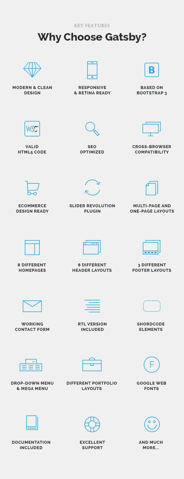 Gatsby - Business, Consulting, Agency, App Showcase, Portfolio HTML Theme - 3