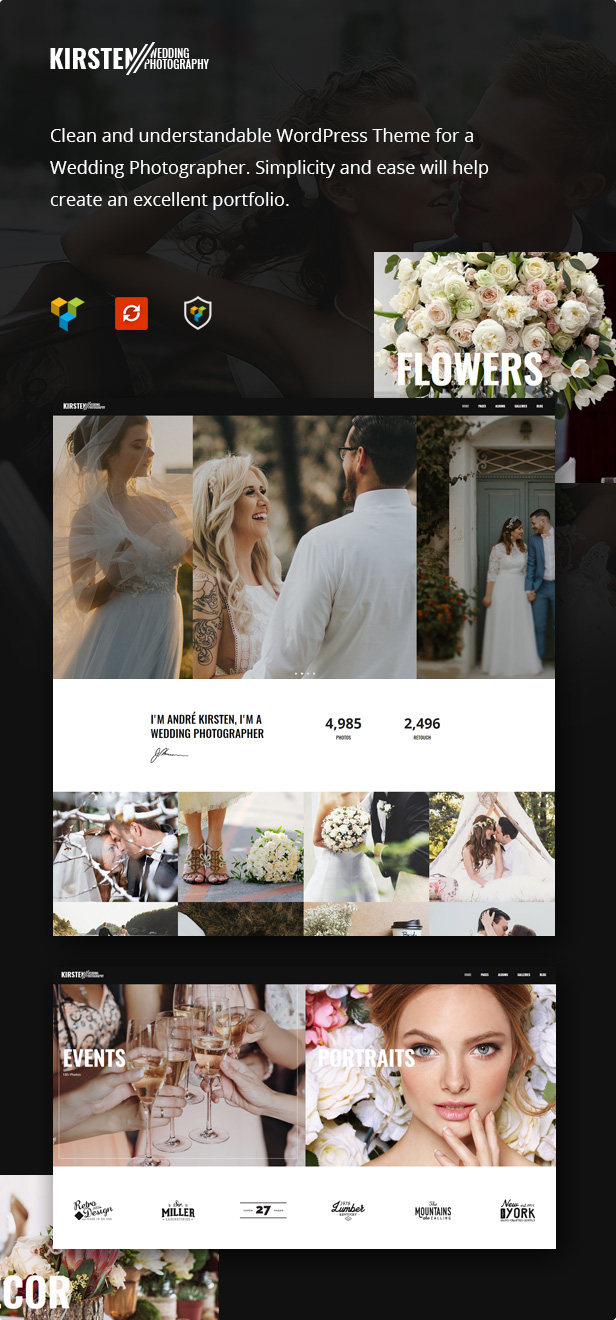 Kirsten - Clean Wedding Photography Theme