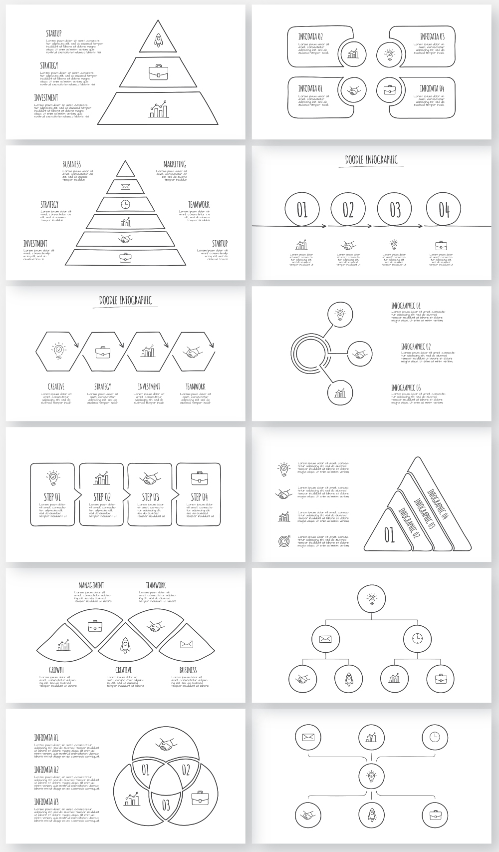 Multipurpose Infographics PowerPoint Templates v.5.0 - 157