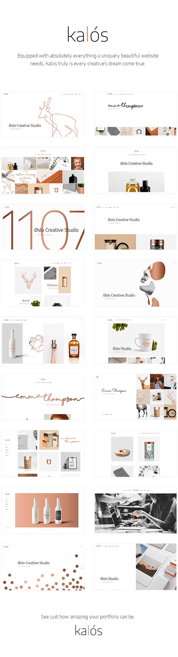 Kalόs - A Clean Multi-Concept Portfolio Theme - 1