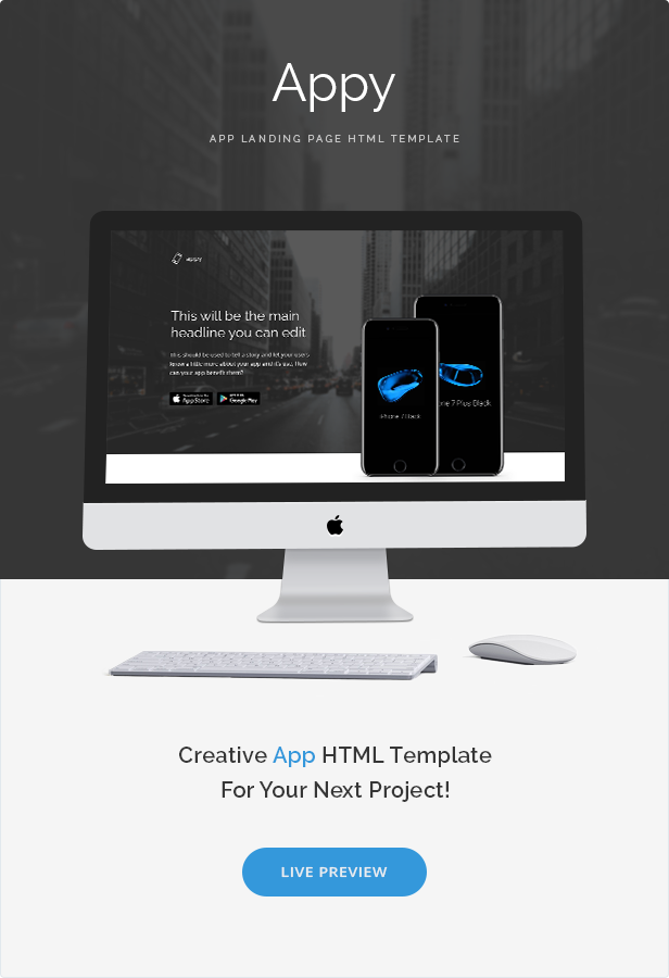 Appy App Landing Page HTML Template By Zytheme ThemeForest - Landing page html template