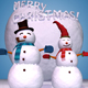 High Quality 3D Snowman Set