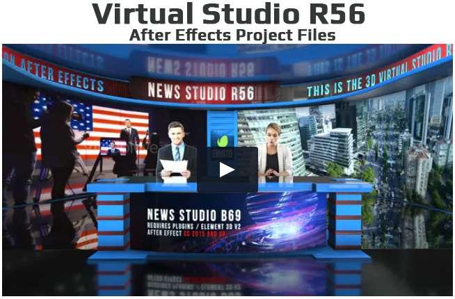 Virtual Studio Set A003 A - 2